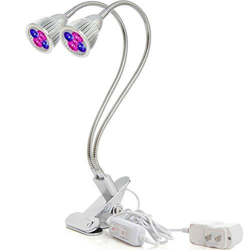 Smart Hydroponics Gartenleuchten Doppelkopfschlauch Pflanzenwachstumslampe Spotlight Snake Tube Clip Light 10w LED Pflanzenlampen Mini Garden Hand Tool Set