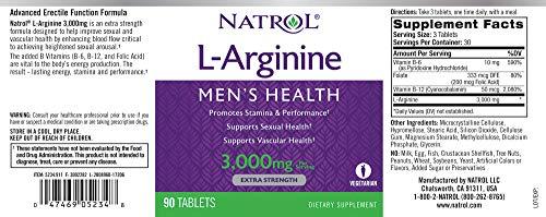 Natrol 海外直送品 L-アルギニン 3000mg 90錠 [2348]