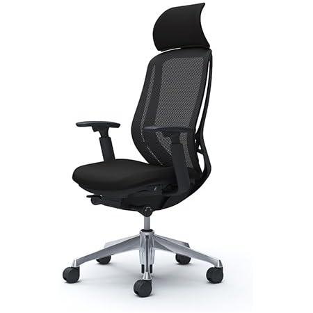 オカムラ オフィスチェア シルフィ― エキストラハイバック メッシュ アジャストアーム アルミ脚 ブラックフレーム デスクチェア C68ABR-FMP1 ブラック