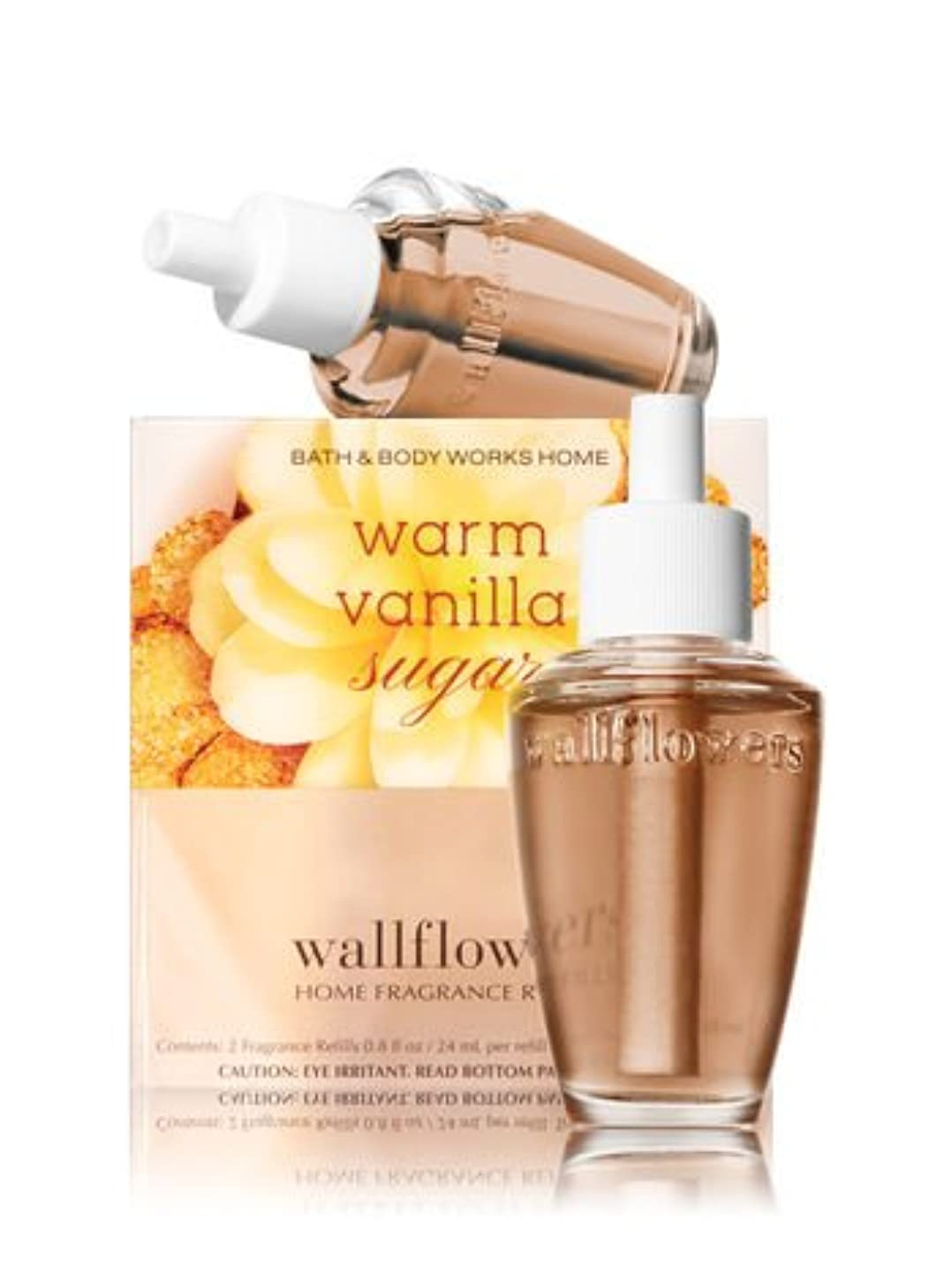 露骨な首謀者なぞらえる【Bath&Body Works/バス&ボディワークス】 ルームフレグランス 詰替えリフィル(2個入り) ウォームバニラシュガー Wallflowers Home Fragrance 2-Pack Refills Warm Vanilla Sugar [並行輸入品]