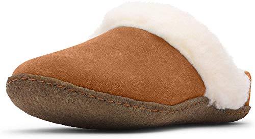 Sorel Nakiska Slide II Slippers Damen Camel Brown/Natural Schuhgröße US 6 | EU 37 2019 Hausschuhe