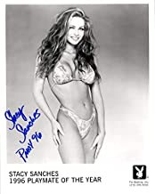 STACY SANCHES SIGNED 8x10 PLAYBOY PLAYMATE PROMO PHOTO + PMOY 96 BECKETT BAS