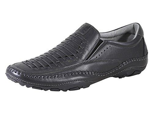 GBX Men's Strike Black Memory Foam Loafers Shoes Sz: 8