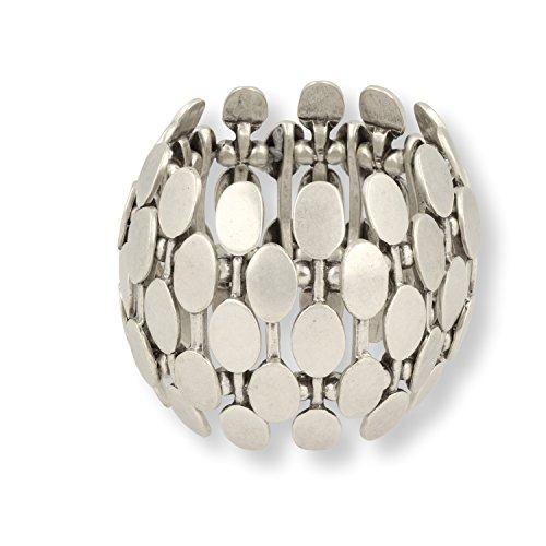 Roberto Leonardi Armreif Valentina - Zeitloses Design mit Echtsilber-Plattierung in Altsilber-Optik