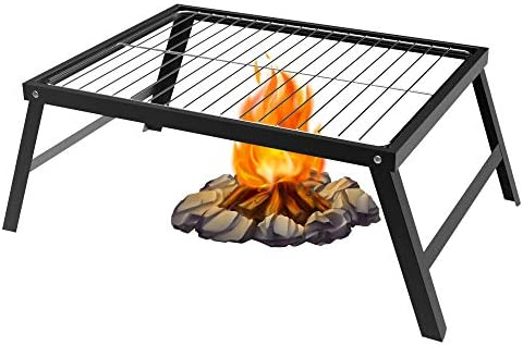 SENXILLER Foldable Campfire Grill Easy to Clean The Detachable 304 Stainless Steel Grate Camping product image