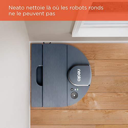 Neato Robotics D8 Intelligent Robot Aspirateur, Aspirateur Robot avec navigation laser, longue autonomie de 100 minutes, connectivité Alexa et contrôle par application, bleu indigo