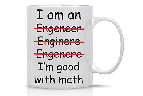 DDGFX Ich Bin EIN Ingenieur Ich Löse Probleme/Gut In Mathe Schlechte Rechtschreibung Kaffee Teebecher Awesome Gift-B_Box_Packing