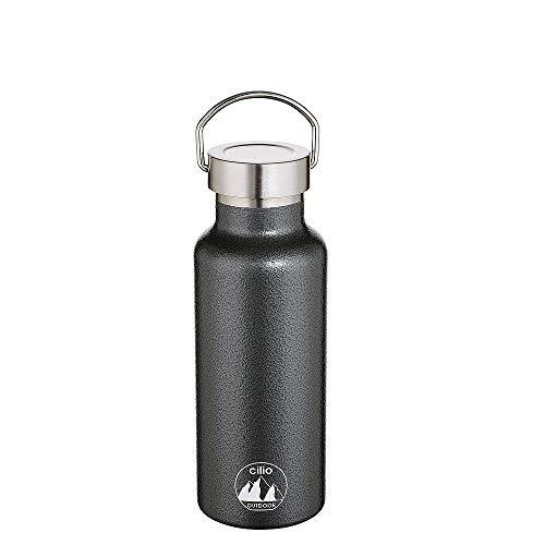 Cilio 545623 Grigio Isoliertrinkflasche 500ml 18/10 Stahl