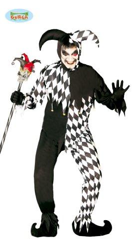 Guirca - The Joker 80688 Déguisement de boulier Noir et Blanc Taille Unique