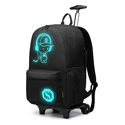 Kono Functional Laptop Rucksack with Wheels Super...