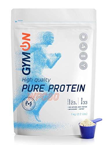 GYMON Whey Protein Shake. Concentrado de proteína de suero de leche, 33 porciones 1000g (Sin Sabor)