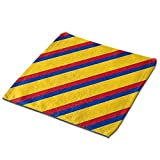 AIZENN Juego de 3 paños de Cocina (33 x 33 cm), Bandera Colombiana Colorida (1), Muy Absorbente, Lavable a máquina, Microfibra, Negro, Set 3