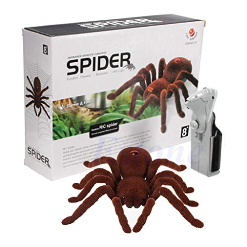 LyGuy Kid Gift Remote Control Scary Creepy Soft Plush Spider Inforared Tarantula RC Juguete Regalo para Niños