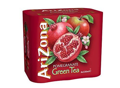 Aroma de granada de te verde de Arizona - 6 x 330 ml.