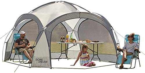 Garden Gear Outdoor Event Dome Shelter Party Tent UV Protection with 4 Removable Mesh Walls Measures 390x390x250cm