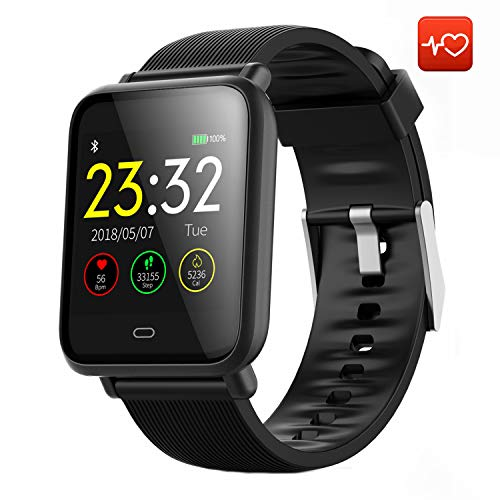 CanMixs Smart Watch CM07 Impermeabile IP67 Activity Tracker Fitness con cardiofrequenzimetro Pedometro Sonno Monitor Cronometro SMS Chiamata Notifica Telecamera remota Musica iOS Telefono Android