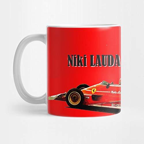 1975 Campeón del Mundo de Fórmula 1 Niki Lauda en su Ferrari 312T. Taza de café de 325 ml.