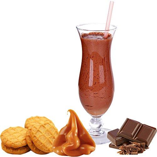 1 Kg Schoko Karamell Keks Geschmack Eisgetränkepulver für 9 Liter Smoothi Slush Sorbet Granita Eisgetränke Eis Cocktails