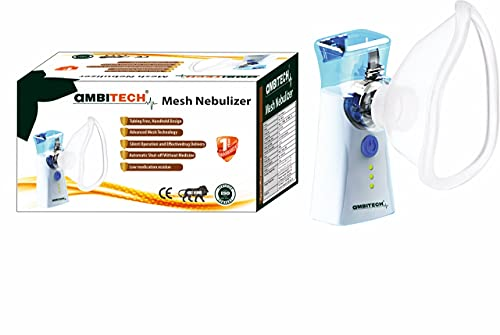 Ambitech NC-12 Portable Mesh Nebulizer Machine for Adults and Kids