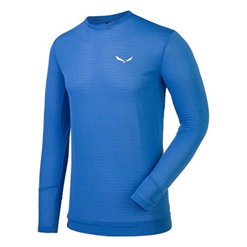 Salewa T-Shirt Pedroc PTC M L/S pour Homme, Homme, T-Shirt, 00-0000026794, Bleu Marine, 54/2X
