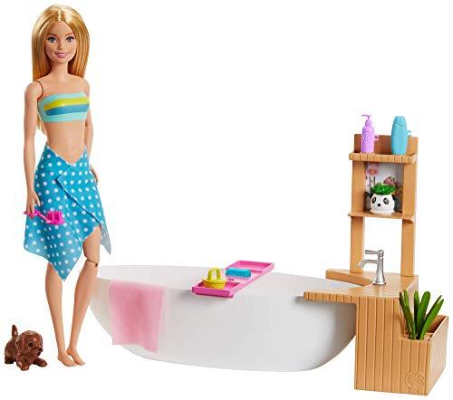 Barbie- Fizzy Bath Bambola con Vasca da Bagno e Accessori, Multicolore, GJN32