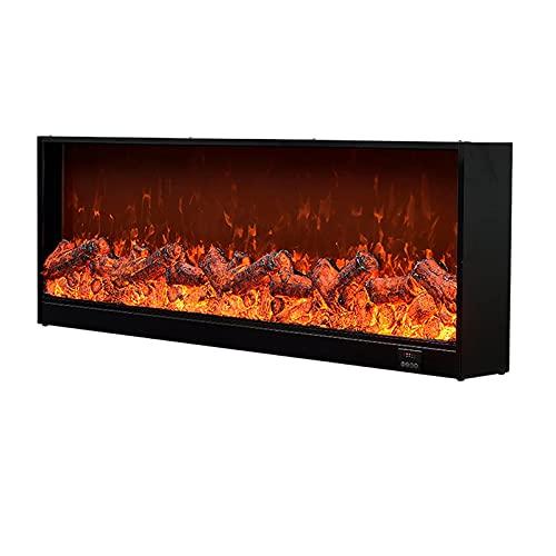 BBZZ Chimenea eléctrica para interiores con llama de fuego falso LED de...
