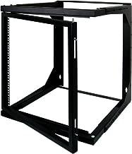 6U Open Wall Mount Frame Rack Hinge - Adjustable Depth 18