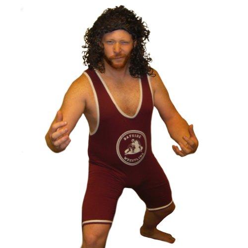 MyPartyShirt AC KS4079212T Bayside Slater Wrestling Singlet Saved by The Bell Wrestler...