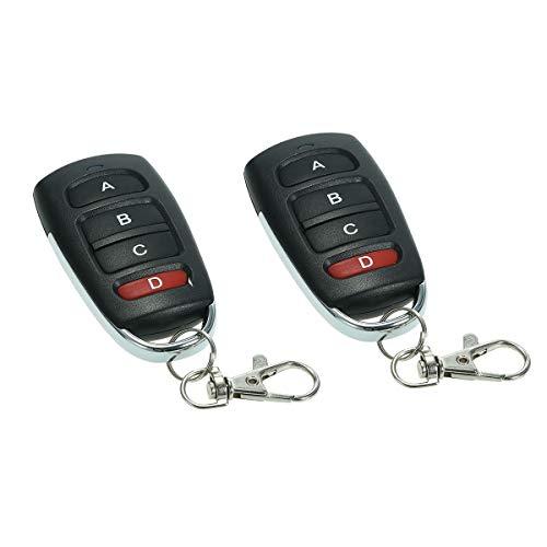 Mando a distancia universal para puerta de garaje con mando a distancia de 433 MHz, 4 canales, control remoto inalámbrico de larga distancia