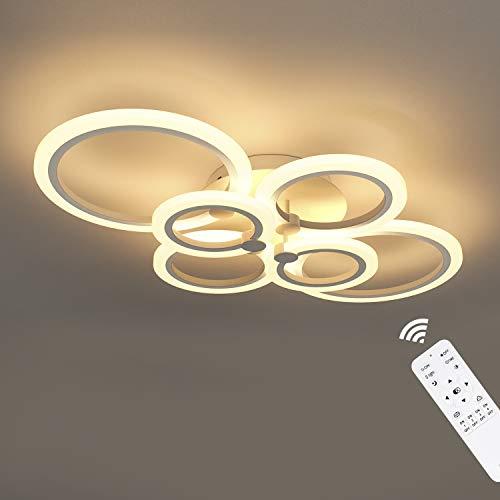 Anten Modern LED Deckenleuchte Wohnzimmer Dimmbar mit Fernbedienung, Design Esszimmerlampe 40W 3000LM mit Farbtemperaturen 3000-6500K für Wohnzimmer, Schlafzimmer, Esszimmer