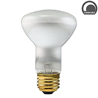 Luxrite LR20870 50R20/120V 50-Watt R20 Incandescent Flood Light Bulb, Frosted Finish, 360 Lumens, E26 medium Base
