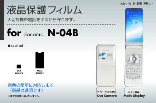 docomo N-04B 液晶保護フィルム 3台分セット