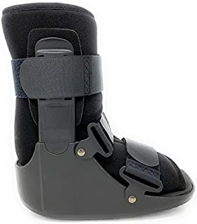 Superior Braces Low Top, Non-Air, Low Profile Medical Orthopedic Walker Boot for Ankle & Foot Injuries, Black (X-Large)