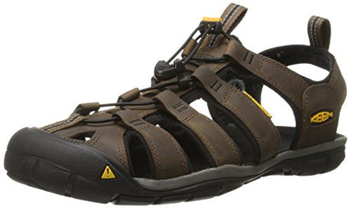 Keen Clearwater CNX Leather Sandalen Trekking& Wandelschoenen, Bruin Dark Earth/Black, 39.5 EU