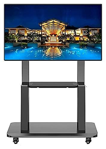 Móvil Universal TELEVISOR Soporte de Piso/Carro TVS 32-75InCH LCD LED OLED Panel Plano Plasma o Pantalla Curva. (Color : Black)