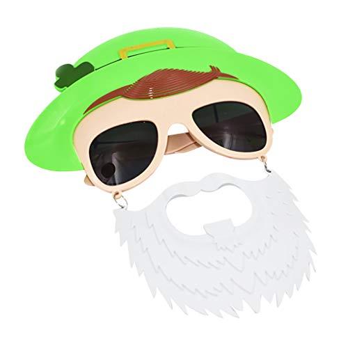 Cuteelf St. Patrick's Tag Shamrock Brillen Irish Klee für St. Patrick's Tag Party Kostüm Favors St Patrick Tagesgrün irisches erwachsenes Festival lustige Kleeblatt-grüne Gläser
