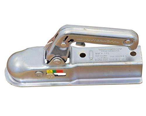 FKAnhängerteile 1 pieza de acoplamiento de bola Winterhoff WW8-D40-800 kg, cuadrado de 40 mm, orificio de 90 mm, diámetro de 11 mm