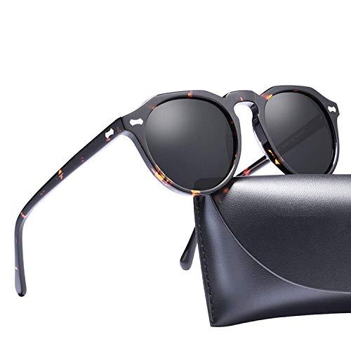 WERERT Gafas de Sol Deportivas,Polarized Sunglasses Classical Designer Vintage Sunglasses Men Women Round Sun Glasses UV400