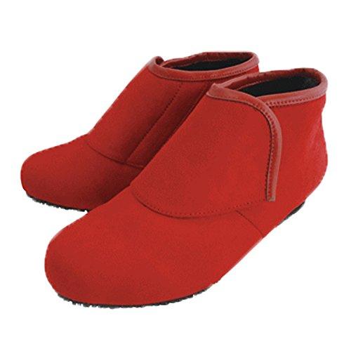 防寒ブーツ リシェス 防滑ソール レンガ 冬 女性用 婦人 高齢者 靴 ウォーキングシューズ 安心 補助 介護 敬老 贈り物/S(22.0cm)