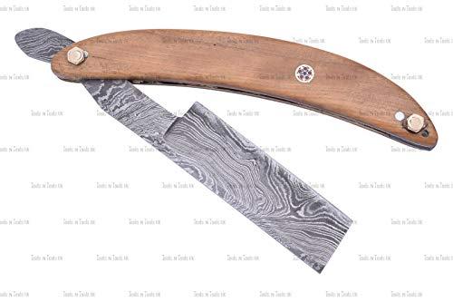 DAM-002 Rasiermesser aus Damaststahl im Vintage-Stil