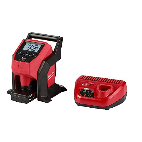 Milwaukee M12 12-Volt Lithium-Ion Cordless Compact Inflator Kit W/ 4.0Ah Battery & Charger