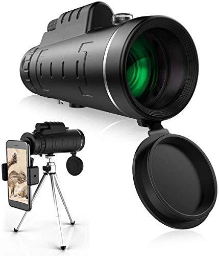 Telescopio monocular estelar, monocular HD de alta potencia 40X60 con soporte para telfono inteligente y trpode Monocular impermeable con enfoque de prisma FMC duradero y claro para observacin de