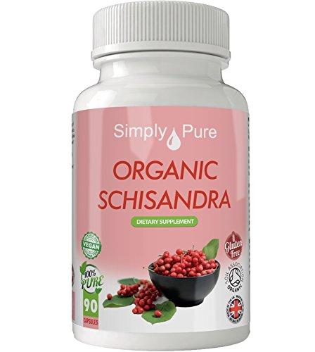 Simply Pure Bio-Schisandra Kapseln, 500 mg, 100 % natürliche Soil Association zertifiziert, glutenfrei, gentechnikfrei und vegan.