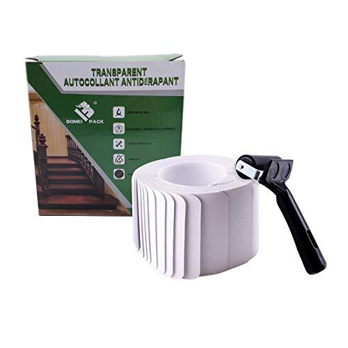 Lote de 15 unidades de 10 x 60 cm PEVA antideslizantes para escaleras y baños, pegatinas fuertes