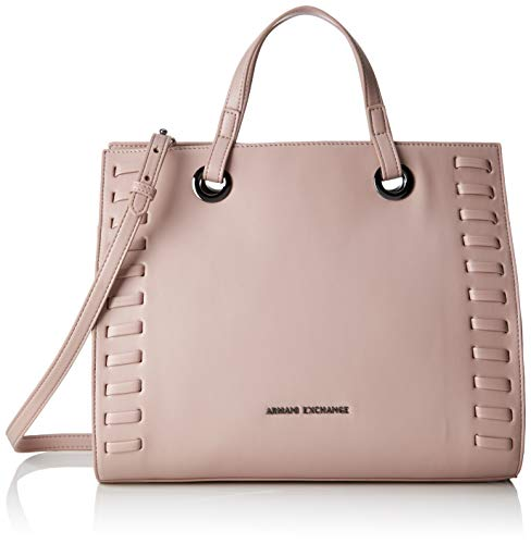 ARMANI EXCHANGE Medium Shopping Bag - Borse Tote Donna, Rosa (Under The Skin), 26x15.5x32 cm (B x H T)
