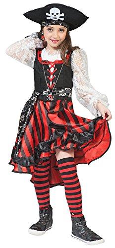 Das Kostümland Seeräuberin Peppina Piratin Kostüm für Kinder Gr. 128