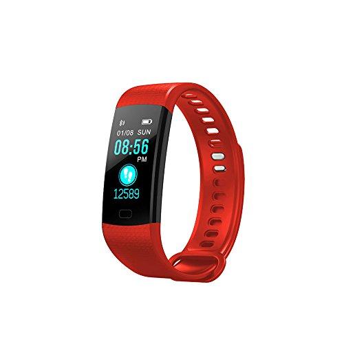 SoloKing Y5 Pulsera Actividad Deportiva Reloj Inteligente Pantalla Color con Pulsómetros,Presión Arterial,Monitor de Sueño,Podómetro,Contador de calorías,Notificación de Llamadas/SMS//Whatsapp (negro)