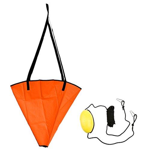 Hellery Anclajes Kayak Canoa Ancla de hasta 12-16 Pies + Accesorios para Kayak -