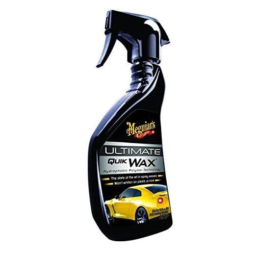 Meguiar's Cera Auto Spray Professionale Effetto Bagnato e Lucido, Cera Carnauba Antigraffio Metallizzate, Bianche, Nere, Cera Liquida per Lucidatura Auto Professionale, 450 ml