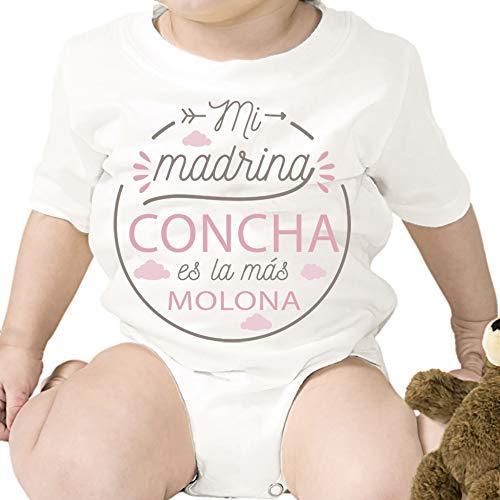 Regalo personalizado: body para bebé 'Madrina Molona' personalizado con parentesco y nombre